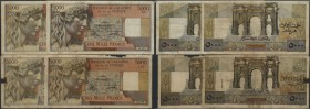 Algeria: huge lot with 78 Banknotes Algeria 5000 Francs with different dates 1946, 1947, 1949, 1950, 1951, 1952, 1953 and 1955 in a lot of used condit...