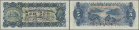 Australia: 5 Pounds 1932 KGV, Rennick 43, rare note signed Riddle-Sheehan, issued in depth of depression era and worth 3-4 weeks wages, note is presse...