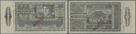 Austria: 1000 Schilling 1947 Specimen P. 125s. This banknote has no stong folds but shows slight handling and slighter folds at its corners. On back s...
