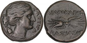 SICILY, SYRACUSE, Time of Agathokles, c. 317-289 BC. AE 23.