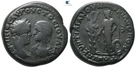 Moesia Inferior. Marcianopolis. Caracalla and Julia Domna AD 198-217. Pentassarion Æ
