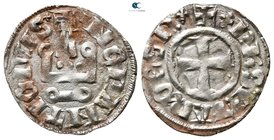 Philipp I of Tarent AD 1294-1332. Lepanto. Denier AR