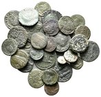 Lot of ca.32 Roman Imperial Bronze Coins / SOLD AS SEEN, NO RETURN!nearly very fine