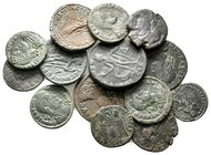 Lot of ca.14 Roman Imperial Bronze Coins / SOLD AS SEEN, NO RETURN!very fine