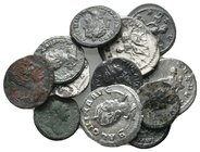 Lot of ca.12 Roman Imperial Bronze&Silver Coins / SOLD AS SEEN, NO RETURN!very fine