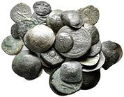 Lot of ca.33 Byzantine Bronze Coins / SOLD AS SEEN, NO RETURN!nearly very fine