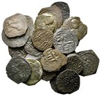 Lot of ca.22 Byzantine Bronze Coins / SOLD AS SEEN, NO RETURN!nearly very fine