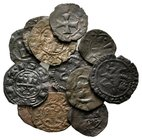 Lot of ca.12 Medieval Bronze Coins / SOLD AS SEEN, NO RETURN!nearly very fine