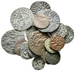 Lot of ca.18 Medieval Bronze Coins / SOLD AS SEEN, NO RETURN!very fine
