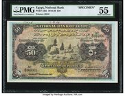 Egypt National Bank of Egypt 50 Pounds 15.11.1919 Pick 15bs Specimen PMG About Uncirculated 55. An attractive higher denomination Specimen from the se...