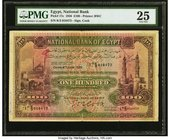Egypt National Bank of Egypt 100 Pounds 4.6.1936 Pick 17c PMG Very Fine 25. The highest denomination of the series, and widely collected as such. Enor...