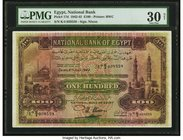 Egypt National Bank of Egypt 100 Pounds 6.7.1942 Pick 17d PMG Very Fine 30 Net. We auctioned three of this number in the same PMG 25 grade with simila...