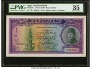 Egypt National Bank of Egypt 100 Pounds 7.2.1950 Pick 27a PMG Choice Very Fine 35. The highest denomination from the popular King Farouk I Issue. Larg...