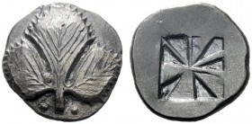 The M.L. Collection of Coins of Magna Graecia and Sicily   Selinus  Didrachm circa 530-500, AR 7.12 g. Selinon leaf; at base of stem, two pellets. Re...