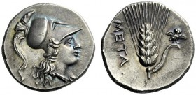 The J. FALM Collection: Miniature Masterpieces of Greek Coinage depicting Animals   Lucania, Metapontum  Half-shekel circa 215-207, AR 3.63 g. Head o...