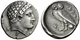 The J. FALM Collection: Miniature Masterpieces of Greek Coinage depicting Animals   Croton  Octobol (?) circa 300-250, AR 3.12 g. Head of young Herac...