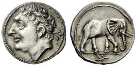 The J. FALM Collection: Miniature Masterpieces of Greek Coinage depicting Animals   The Carthaginians in Sicily and North Africa  ½ shekel, Sicily or...