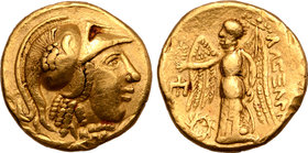 Central Europe, the Boii AV Stater. Nike Type, imitating Alexander III of Macedon.