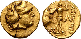 Central Europe, the Boii AV 1/3 Stater. Athene-Alkis Type.