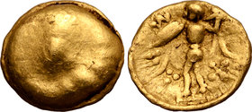 Central Europe, the Boii AV 1/24 Stater. Athene-Alkis Type.