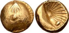Central Europe, the Boii AV Stater. Muschel Type.
