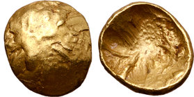 Central Europe, the Boii AV 1/8 Stater. Muschel Type.