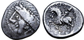 Central Europe, West Noricum AR Tetradrachm. Tinco-Stufe Type.