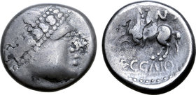Central Europe, West Noricum AR Tetradrachm. Eccaio Type.