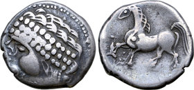 Central Europe, East Noricum AR Tetradrachm. Augen-Stamm Type.