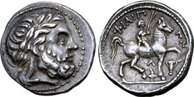 Celts in Eastern Europe AR Tetradrachm. 'Siegesreiter' Prototype Issue.