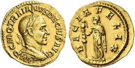 Trajan Decius, 249 – 251. Aureus 249-251, AV 3.52 g. IMP C M Q TRAIANVS DECIVS AVG Laureate and cuirassed bust r., with drapery on l. shoulder. Rev. D...