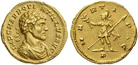 Quintillus, brother of Claudius II, July – September (?) 270. Aureus, Mediolanum July – September (?) 270, AV 4.87 g. IMP C M AVR QVI – NTILLVS AVG La...