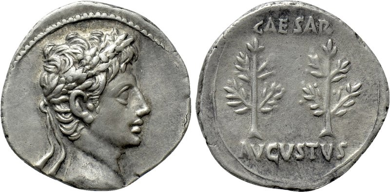 AUGUSTUS (27 BC-14 AD). Denarius. Uncertain mint (Spain?). 