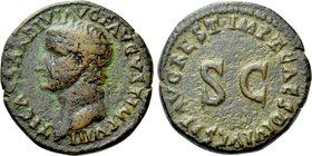 TIBERIUS (14-37). As. Rome or mint in Thrace. Restitution issue struck under Domitian.