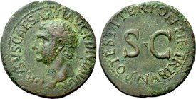 DRUSUS (Died AD 23). As. Rome. Restoration issue struck under Tiberius.