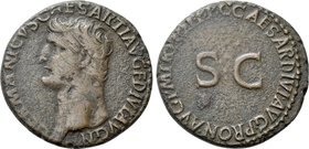 GERMANICUS (Died 19). As. Rome. Struck under Caligula.