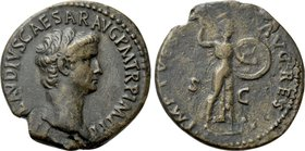 CLAUDIUS (41-54). As. Rome. Restitution issue struck under Titus.