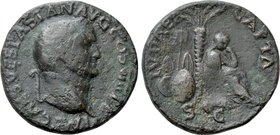 "VESPASIAN (69-79). As. Lugdunum. ""Judaea Capta"" type."