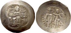 ISAAC II ANGELUS (First reign, 1185-1195). EL Aspron Trachy. Constantinople.
