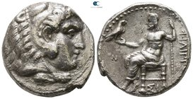 Kings of Macedon. Sidon. Philip III Arrhidaeus 323-317 BC. Struck under Laomedon. Dated RY 13 of Abdalonymos=321/0 BC. Tetradrachm AR