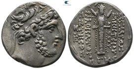Seleukid Kingdom. Damascus. Demetrios III Eukairos 97-87 BC. Dated SE 223=90/89 BC. Tetradrachm AR