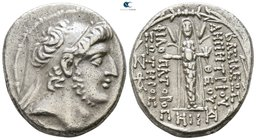 Seleukid Kingdom. Damascus. Demetrios III Eukairos 97-87 BC. Dated SE 218=95/4 BC. Tetradrachm AR