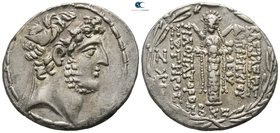 Seleukid Kingdom. Damascus. Demetrios III Eukairos 97-87 BC. Dated SE 222=91/0 BC. Tetradrachm AR