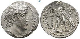 Seleukid Kingdom. Tyre. Demetrios II Nikator, 2nd reign 129-125 BC. Dated SE 184=129/8 BC. Tetradrachm AR
