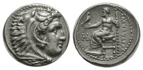 "Kings of Macedon. Alexander III ""the Great"" 336-323 BC.   Condition: Very Fine  Weight: 3.50gr Diameter: 16.02mm"