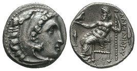 "Kings of Macedon. Alexander III ""the Great"" 336-323 BC.   Condition: Very Fine  Weight: 4.20gr Diameter: 17.17mm"