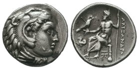 "Kings of Macedon. Alexander III ""the Great"" 336-323 BC.   Condition: Very Fine  Weight: 4.20gr Diameter: 17.53mm"
