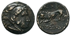 KINGS OF MACEDON. Kassander, 305-298 BC. Dichalkon Bronze AE  Condition: Very Fine  Weight: 2.79gr Diameter: 14.42mm