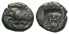 ISLANDS off IONIA, Samos. Circa 526-522 BC. AR Drachm