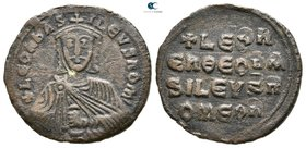 Leo VI the Wise. AD 886-912. Constantinople. Follis Æ